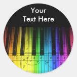 Rainbow Piano Keyboard and Notes