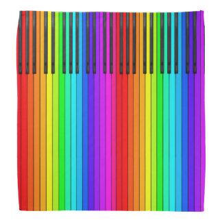Rainbow Piano Keyboard Bandana
