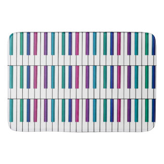 Rainbow Piano Keyboard Collection Bath Mats