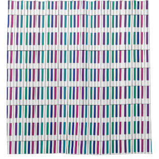 Rainbow Piano Keyboard Collection Shower Curtain