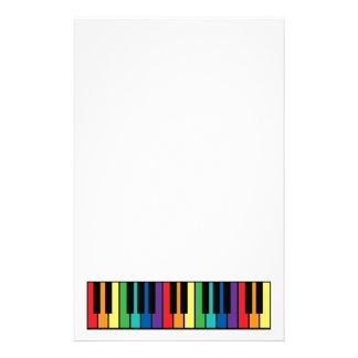 Rainbow Piano Keyboard Personalised Stationery