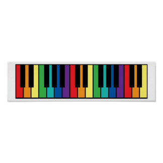 Rainbow Piano Keyboard Posters