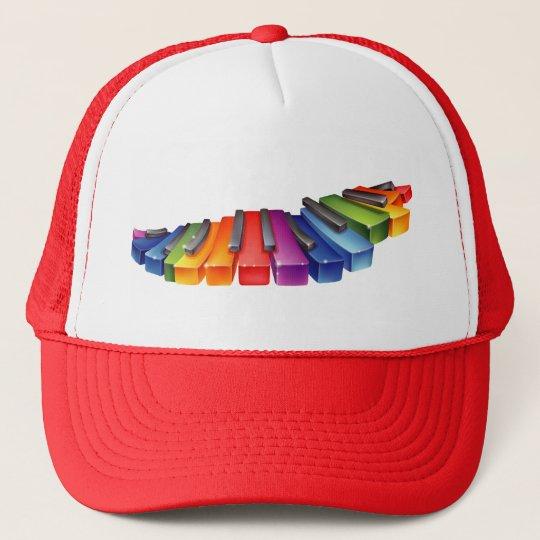 Rainbow Piano Keys Cap