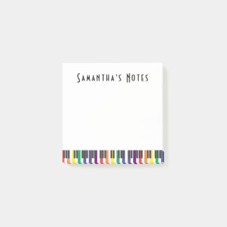 Rainbow Piano Keys, Square Post-it Notes