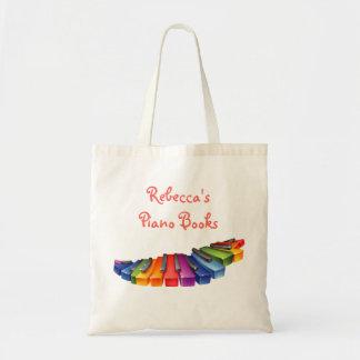 Rainbow Piano Keys Tote Bag