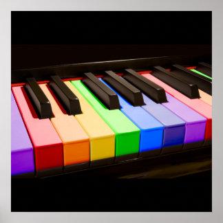 Rainbow Piano Poster
