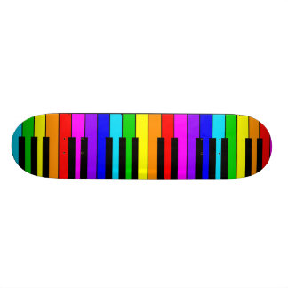 Rainbow Piano Skateboard