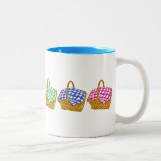 Rainbow Picnic Baskets Two-Tone Mug