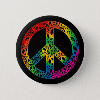 Rainbow Pieces of Peace 6 Cm Round Badge