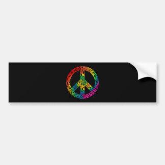 Rainbow Pieces of Peace Bumper Sticker