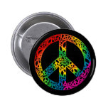 Rainbow Pieces of Peace Button
