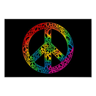 Rainbow Pieces of Peace Poster