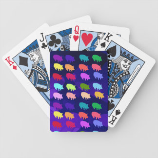 Rainbow Pigs Bicycle Playing Cards