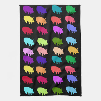 Rainbow Pigs Hand Towel