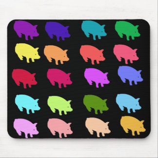 Rainbow Pigs Mouse Pad