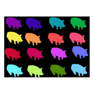 Rainbow Pigs Pack Of Chubby Business Cards