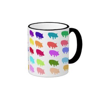 Rainbow Pigs Ringer Mug