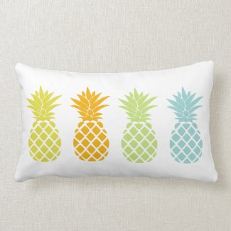 Rainbow Pineapples Cushion