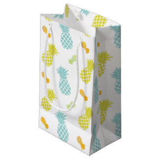 Rainbow Pineapples Pattern Small Gift Bag