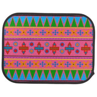 Rainbow pink aztec tribal pattern car mat