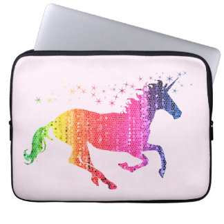 Rainbow Pink Unicorn Laptop Sleeves