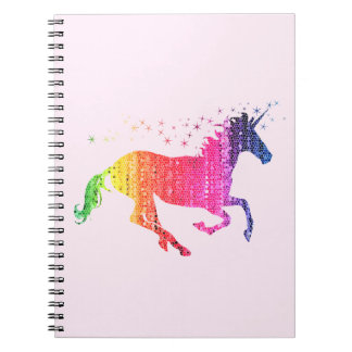 Rainbow Pink Unicorn Notebook