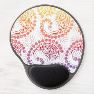 Rainbow Pinwheel Paisley Design Gel Mouse Pad