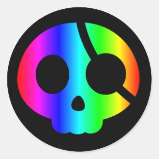 Rainbow Pirate Skull sticker