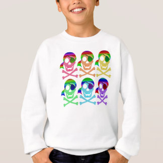 Rainbow Pirate Skulls Kids' Sweatshirts