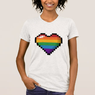 Rainbow Pixel Heart T-Shirt