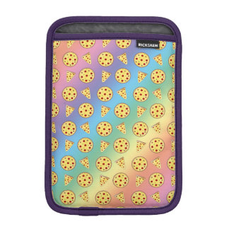 Rainbow pizza pattern iPad mini sleeve