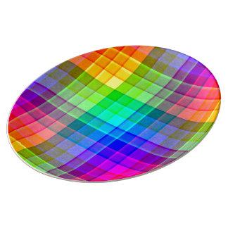 Rainbow Plaid Custom Plate