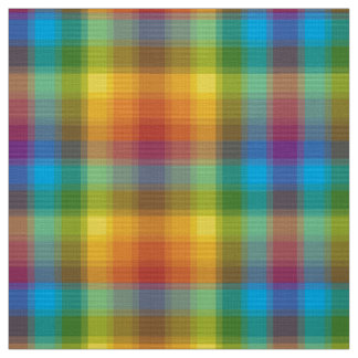 Rainbow Plaid Fabric