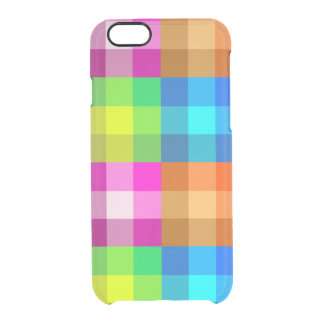 Rainbow Plaid iPhone 6s Deflector Case