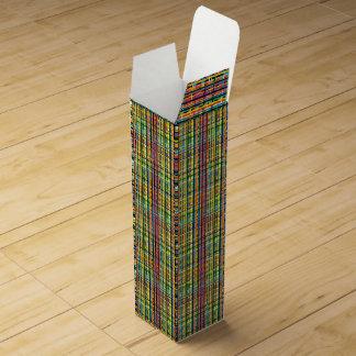 rainbow plaid wine box