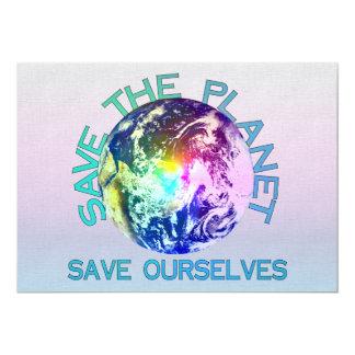 Rainbow Planet Personalized Invite