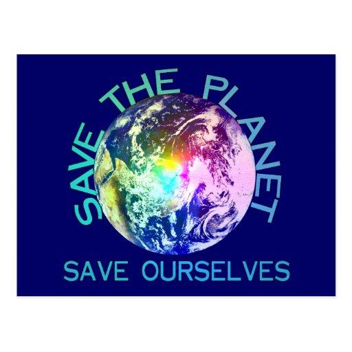 Rainbow Planet Postcard