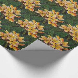 Rainbow Plumeria Wrapping Paper