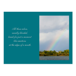 Rainbow Poetry Reading Template Card