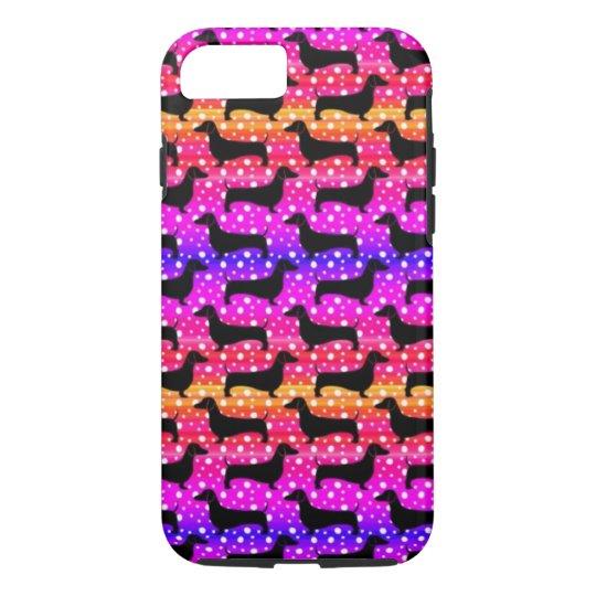 Rainbow Polka Dachshunds iPhone 7 Case