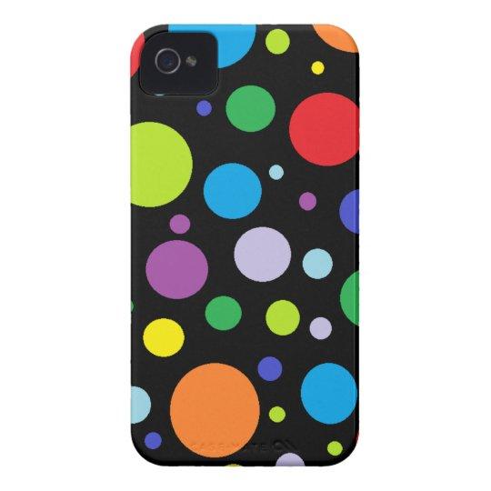 Rainbow Polka Dot iPhone 4 Case