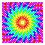 Rainbow Polka Dot Kaleidoscope Mandala Photo