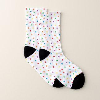 Rainbow Polka Dot Socks