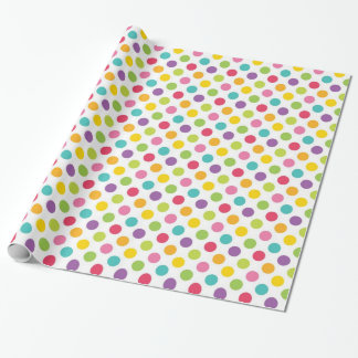 Rainbow Polka Dot Wrapping Paper