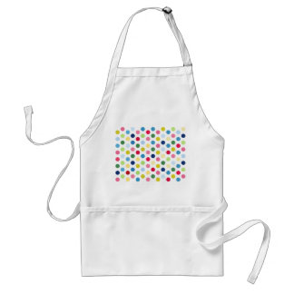 Rainbow polka dots standard apron