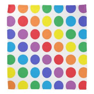 Rainbow Polka Dots Bandana