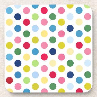 Rainbow polka dots coaster