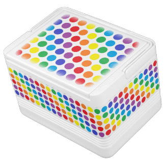 Rainbow Polka Dots Igloo Cool Box