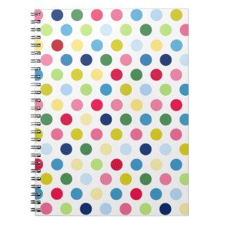 Rainbow polka dots notebooks