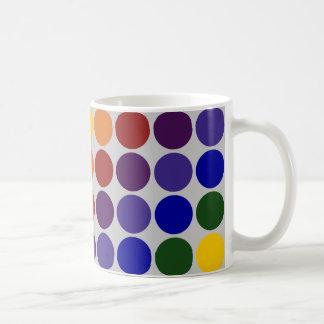 Rainbow Polka Dots on Grey Mugs